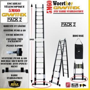Echelle Telescopique Et Escabeau Telescopique Woerther Pack