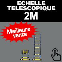 Echelle télescopique de taille 2M en aluminium