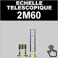 Echelle télescopique de taille 2M60 en aluminium