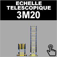 Echelle télescopique de taille 3M20 en aluminium